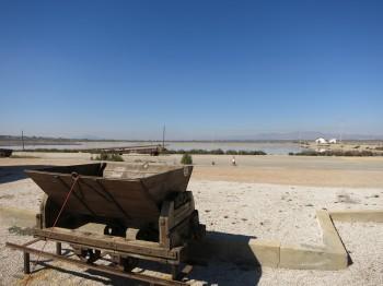 Carreta tradicional con la que las mulas transportaban la sal en las Salinas de Santa Pola
