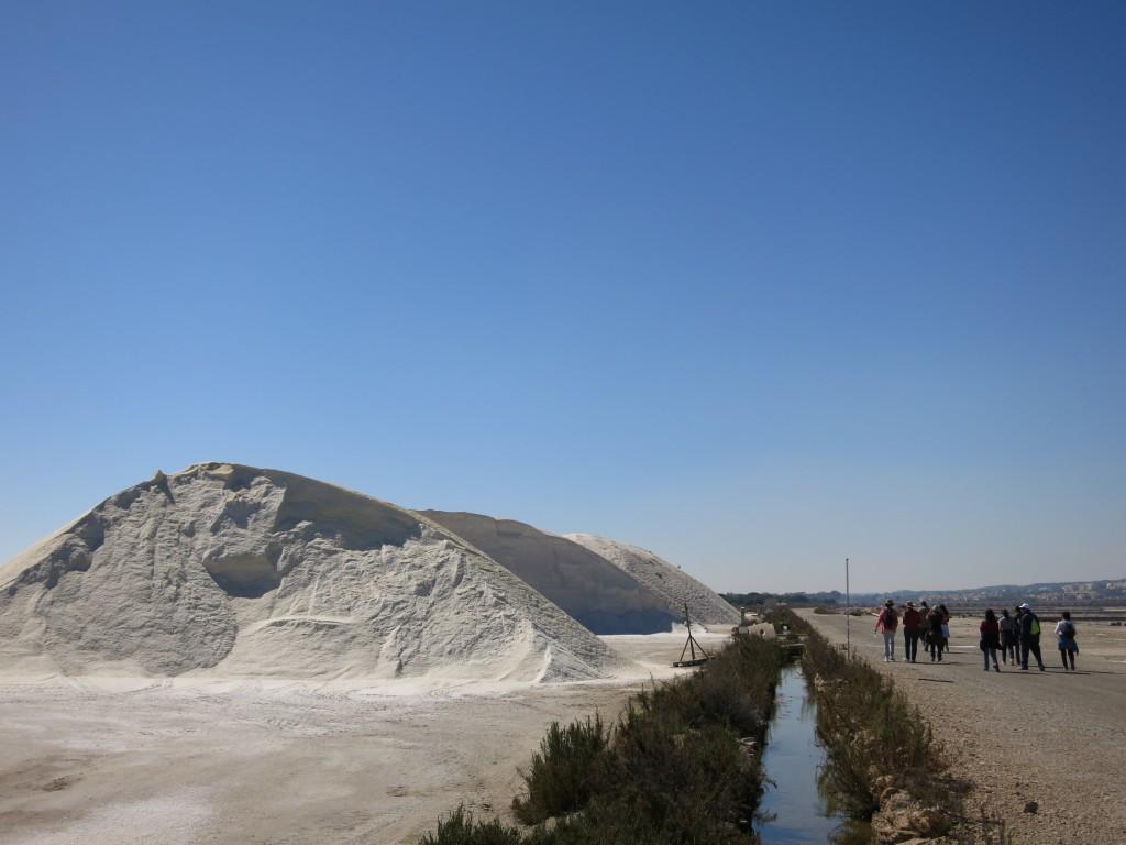 Salinas de Santa Pola. Garberas o montañas de sal.